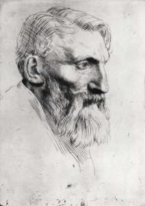 Auguste Rodin (1840–1917) drawn by Alphonse Legros (1837–1911)