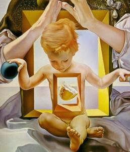 Dalí, « La Madone de Port Lligat », seconde version, détail