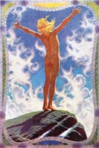 """Fidus, """"Gebet an die Sonne"""", 1913"""