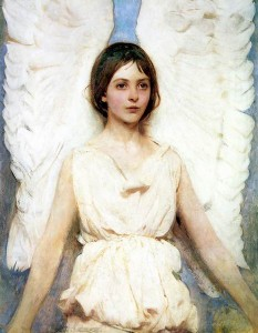 Abbott Handerson Thayer, Angel, 1889, modeled by his daughter Mary