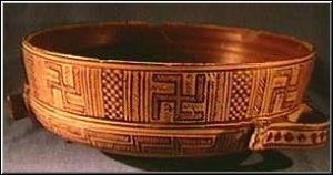 Swastika-adorned bowl from Athens, c. 800 BC