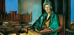 Wyndam Lewis' portrait of Edith Sitwell