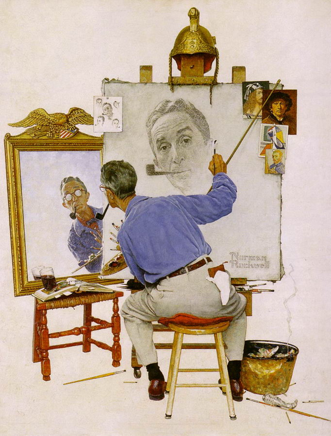 Image result for norman rockwell self portrait