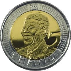 La pièce bimétallique Nelson Mandela