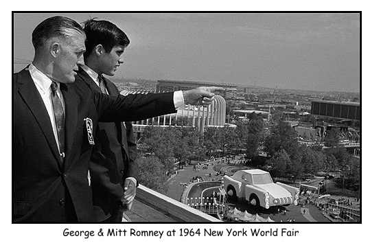 Mitt Romney and George Romney at the 1964 World Fair