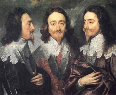 """Anthony van Dyck: """"Charles I. von England, aus drei Blickwinkeln"""", 1636."""