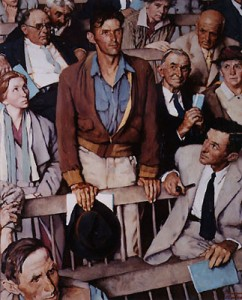 "Norman Rockwell, Study for ""Freedom of Speech"""
