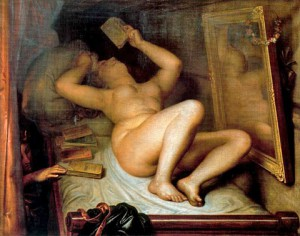 "Antoine Wiertz (1806-1865), ""The Reader of Novels,"" 1853"
