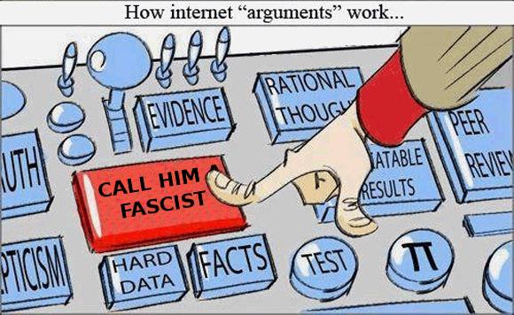 "How Internet ""arguments"" work..."