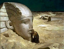 "Elihu Vedder, ""The Questioner of the Sphinx,"" 1863, Museum of Fine Arts, Boston"