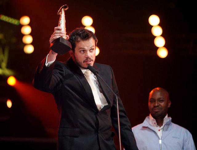 Bok van Blerk accepting the Best Selling Album Award for Afrikanerhart, South African Music Awards, 2010