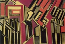 """Wyndham Lewis, """"Red Duet,"""" 1914"""