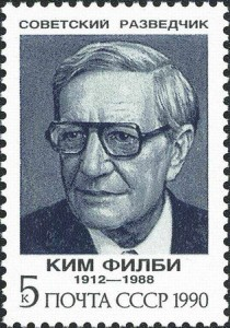 Spy Kim Philby honored on Soviet postage stamp