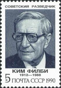 Spy Kim Philby honored on Soviet postage stamp