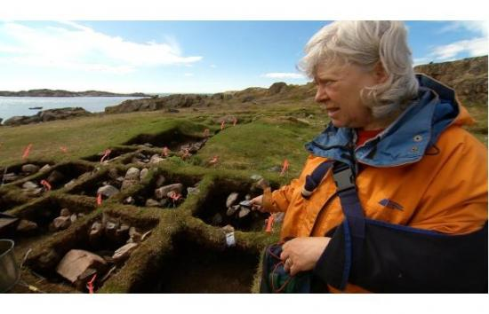 Archeologist Pat Sutherland on Baffin Island