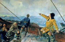 Christian Krohg, Leiv Eriksson oppdager Amerika (Leif Eriksson Discovers America), 1893