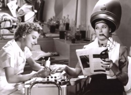 "Jewish actress Dennie Moore, L., and Rosalind Russell in ""The Women"""