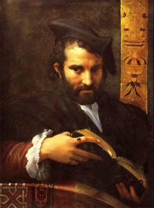 "Giovanni Francesco Maria Mazzola (Parmigianino), ""Portrait of a Man Reading a Book,"" 16th century"