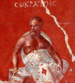 Seated Socrates, fresco from ancient Ephesus