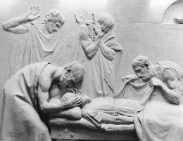 "Canova, ""The Death of Socrates,"" detail: Crito closing the eyes of Socrates"
