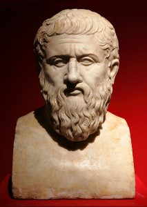 Plato, 1st century marble bust, Capitoline Museum, Rome