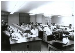 Jewish-Communist eugenicist Hermann J. Muller teaching at Indiana University