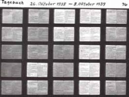 Microfiche glass plates containing Goebbels' diaries
