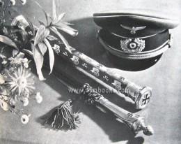 Rommel's Marshal's baton and Interim baton at his funeral