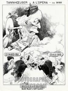 Richard Wagner caricature about Tannhuser critics.