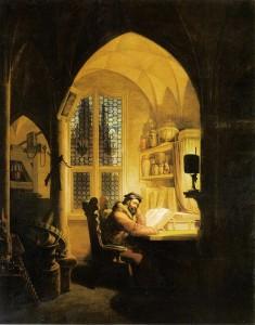 Faust im Studierzimmer Georg Friedrich Kersting