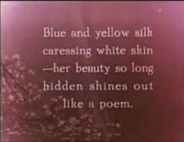 Silk caresses white skin