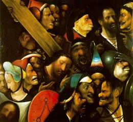 "Hieronymous Bosch, ""Christ Carrying the Cross,"" 1490"