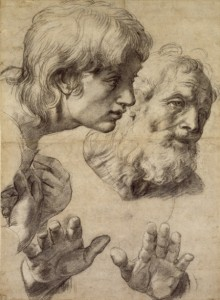 raphael-studies-of-the-heads-of-two-apostles
