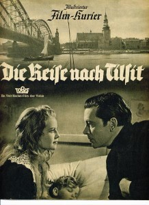 Cover of the pressbook for Die Reise Nach Tilsit