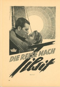 Poster art for Die Reise Nach Tilsit--note the sunrise motif
