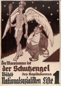 "NSDAP Election Poster: ""Marxism is the guardian angel of capitalism"""