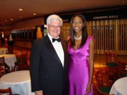 """Keli """"White Porn Actresses are Racists"""" Goff with ex-Congressman Newt Gingrich (R.-Ga.)"""