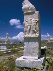 Sacred phalluses, Delos, Greece