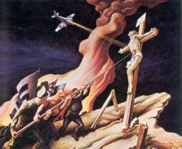 "Illustration: A propaganda double entendre: Thomas Hart Benton's ""The Year of Peril. Again"" (1941)"