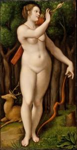 "Giampetrino (school of Leonardo), ""Diana the Huntress"""