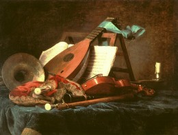 "Anne Vallayer-Coster, ""Attributes of Music,"" 1770"