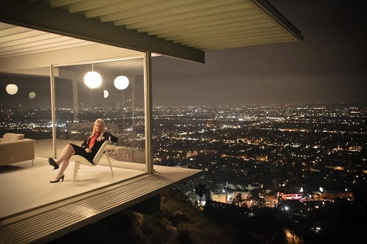 Are husbands necessary? Contemporary Italian-American TV producer Alison Martino relaxing at home. A baby boomer, her show business family/career background is similar to, if far less illustrious than, Van Upp's.