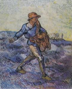"""Vincent Van Gogh, """"The Sower (after Millet),"""" 1889"""