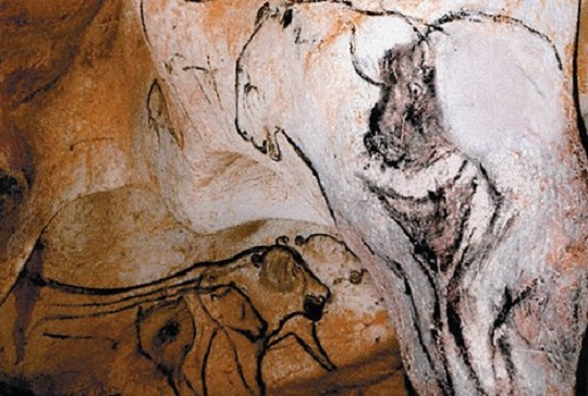 Chauvet lion-bison woman