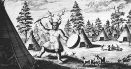 Earliest known depiction of a (Siberian) shaman, late 17th century