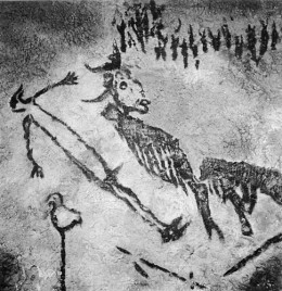 From Lascaux, is this bird headed man 'rapt in a shamanistic trance'