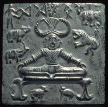 'Pashupati' seal of Mohenjo Daro ca. 2700 B.C.E