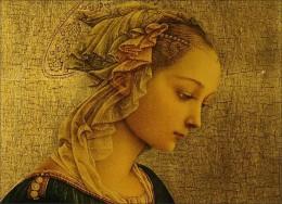 "Fra Filippo Lippi, ""Madonna,"" detail, 15ht century"