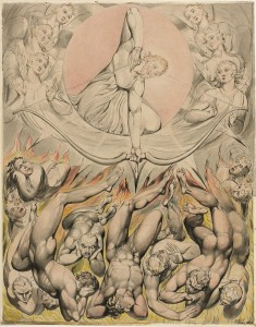 """William Blake, """"The Casting of the Rebel Angels into Hell,"""" 1808"""