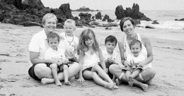 """Not a family. Lesbian couple with 5 children conceived via sperm donor(s?) and in vitro fertilization. Use of fertility medication resulted in two sets of twins. """"I had a (lesbian) midwife once tell us that it helps to orgasm after inseminating. Trying was SO NOT SEXY for us. It became as cold and clinical as it gets."""""""